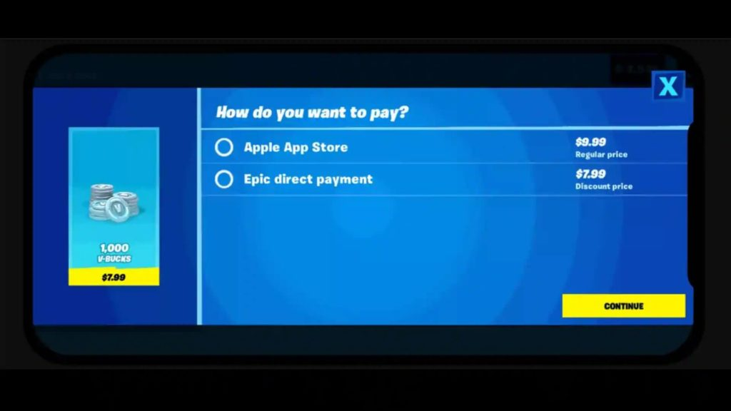 Direct Payment Fortnite
